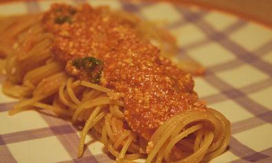 Receita de Espaguete comm Molho de Tomate e Ricota