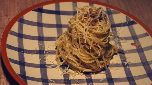 Receita de Espaguete a Carbonara