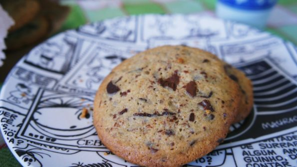 Receita de Cookie de Baunilha com Gotas de Chocolate ao Leite