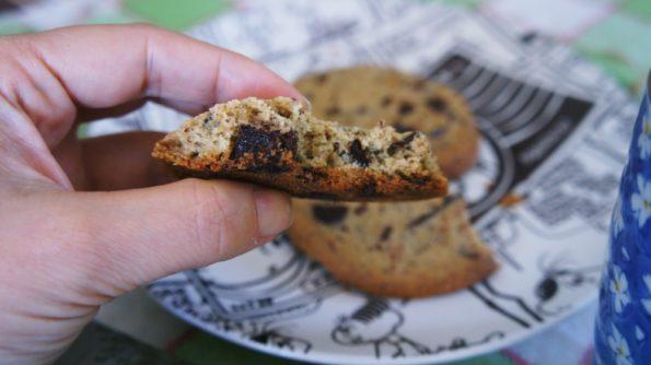 Receita de Cookies de Baunilha com Gotas de Chocolate