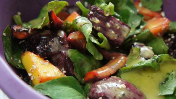 Receita de Salada de Beterraba e Cenoura Assada