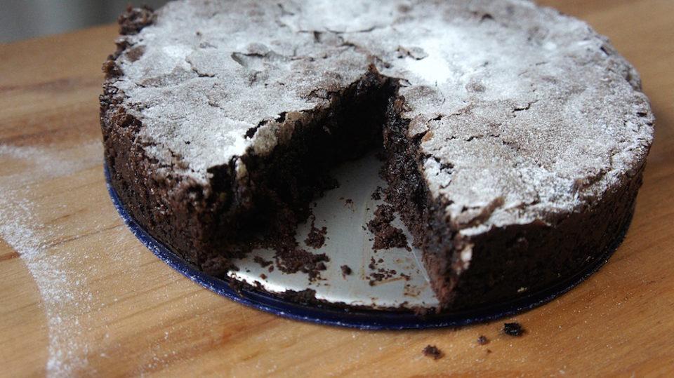 Receita do Bolo de Chocolate dos Suecos Kladdkaka