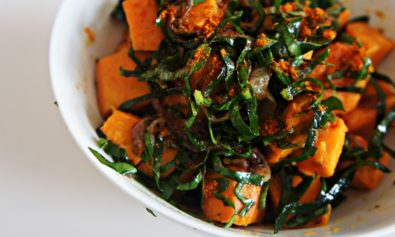 Salada de Batata Doce com Curry