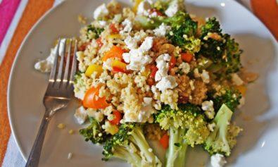 Receita de Salada de Trigo com Queijo Feta