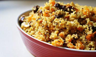 Salada de Cuscuz com Curry e Tamaras Secas