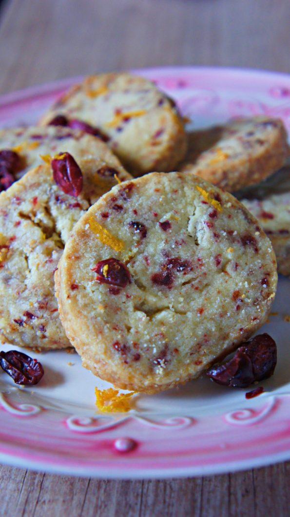 Receita de Biscoito Amanteigado com Cranberry
