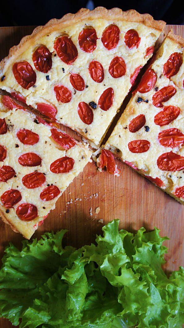 Receita de Quiche de Tomate e Ricota