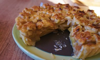Receita de torta de pêssego com massa podre