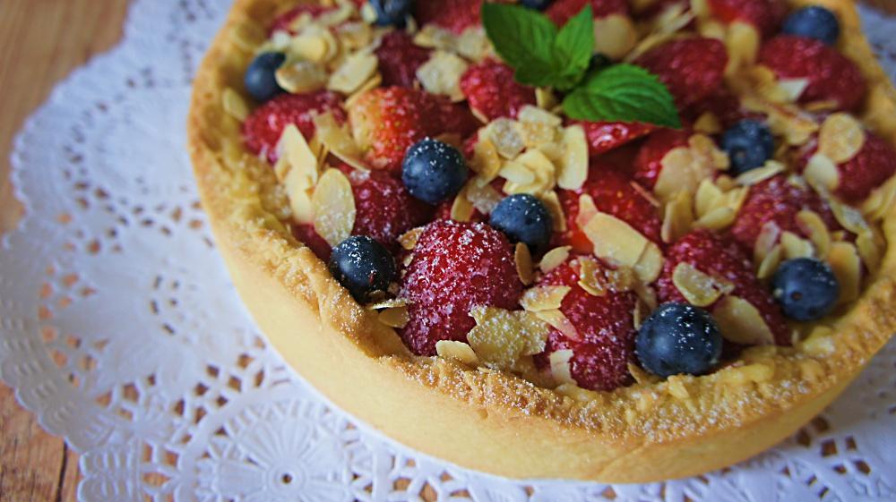 Receita de Torta de Frutas Vermelhas
