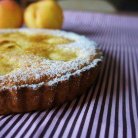 Receita de Torta de Pêssego e Frangipane