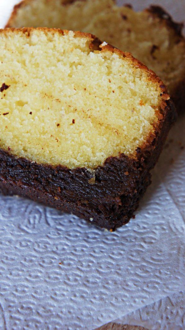 Receita de Bolo de Manteiga e Brownie