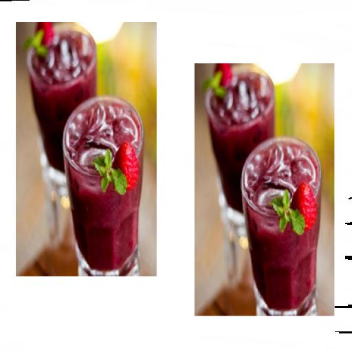 4 Copos Açaí C/polpa de Morango