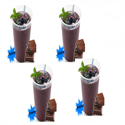 4 Copos Açaí Power Chocolate