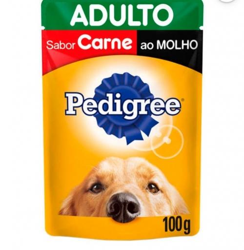 Sachê Pedigree Adultos Sabor Carne 100G