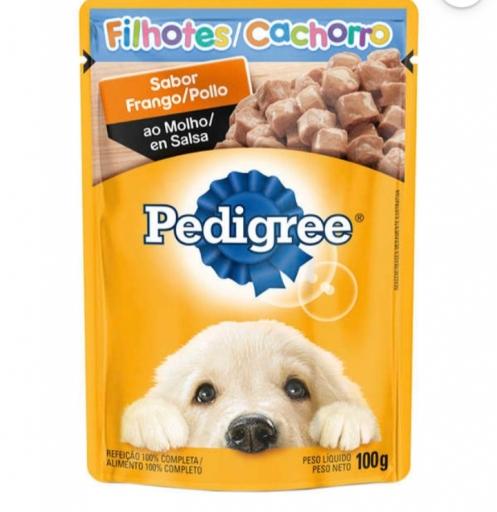 Sachê Pedigree Filhotes Cachorro Sabor Frango 100G