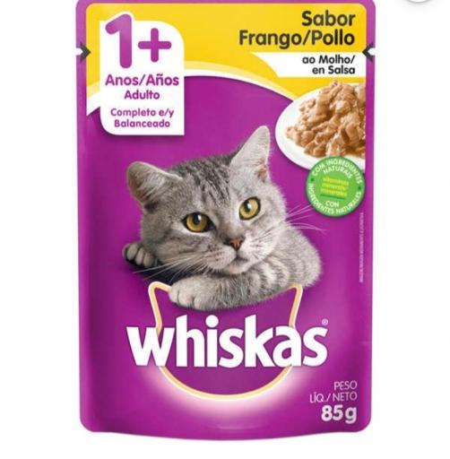 Sachê Whiskas Gatos Adultos 1+ Sabor Frango 85G