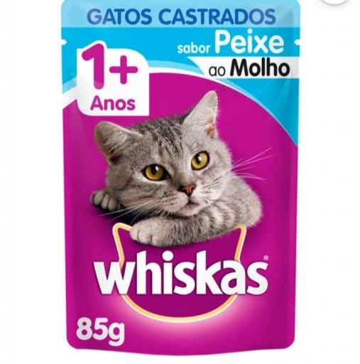 Sachê Whiskas Gatos Castrados 1+ Sabor Peixe