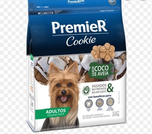 Premier Cookie Adultos Pequeno Porte Sabor Coco e Aveia 250G