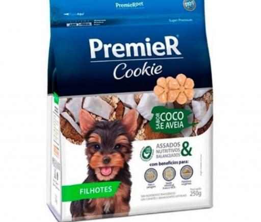 Premier Cookie Filhotes Pequeno Porte Sabor Coco e Aveia 250