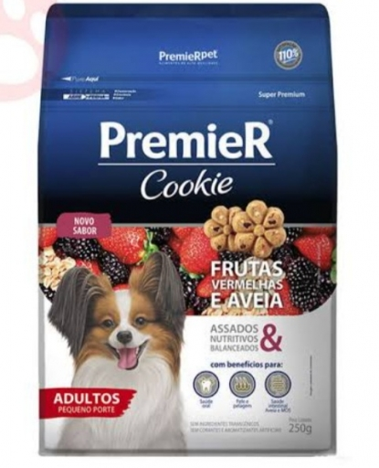 Premier Cookie Adultos Pequeno Porte Sabor Frutas Vermelhas