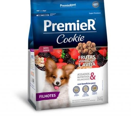 Premier Cookie Filhotes Pequeno Porte Sabor Frutas Vermelhas