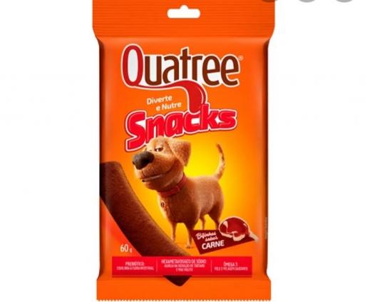 Quatree Snacks Bifinhos Sabor Carne 60G