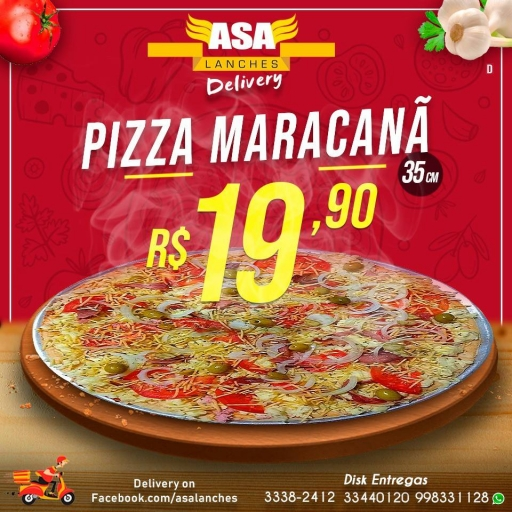 1 Pizza Maracanã 35Cm