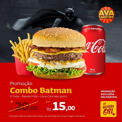 1 X-Tudo + 1 Batata + 1 Coca Cola Lata 350 ML