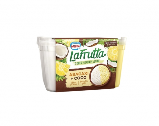 Sorvete Nestlé Lá Fruta Abacaxi Coco