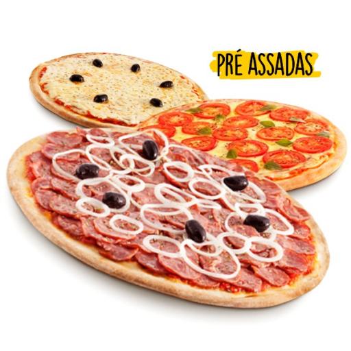3 Pizzas Pré Assadas (Opção de Assar)