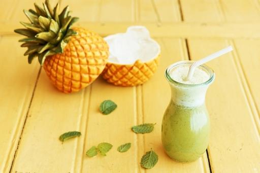 Vitamina de Polpa Abacaxi C/hortelã 400ML
