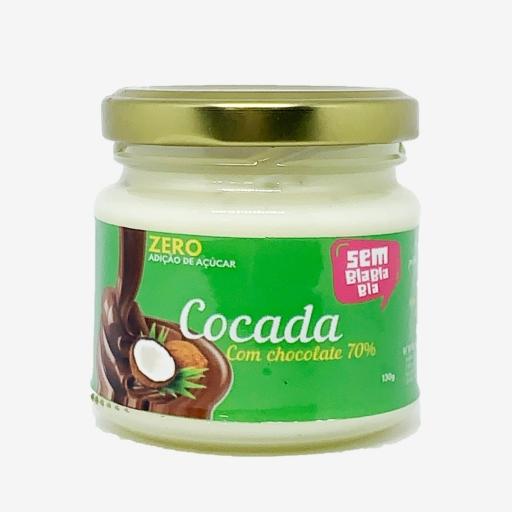 Cocada Zero Açúcar Com Chocolate 70% - 130G