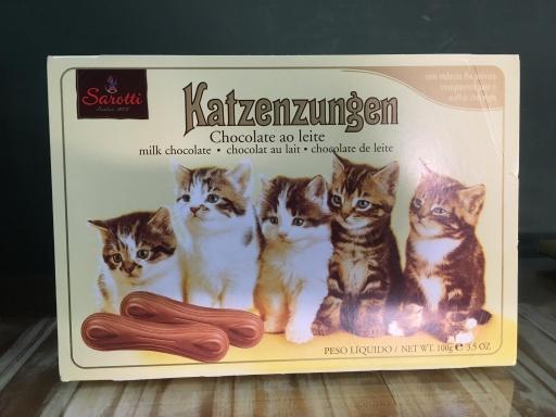 Língua de Gato Katzenzungen Ao Leite