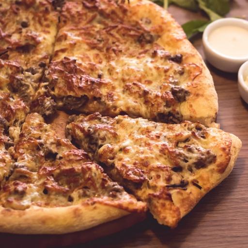 Pizza Grande Strogonoff + Borda + Entrega Grátis + Refri