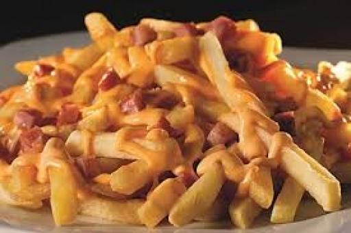 Batata Frita Recheada Bacon e Catupiry