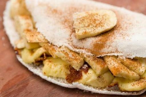 Tapioca Banana, Leite Condensado e Canela