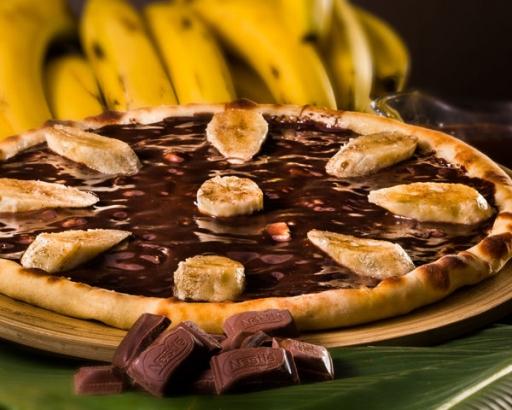 Pizza Grande Banana C/chocolate
