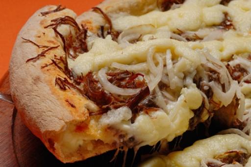 Pizza Média Carne de Sol