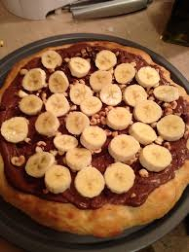 Pizza Pequena Banana C/chocolate