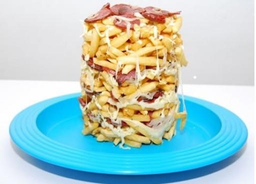 Batata Torre Bacon Mussarela - Serve 2 Pessoas