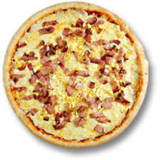 Pizza Grande Muçarela, Presunto e Bacon + Borda Gratis