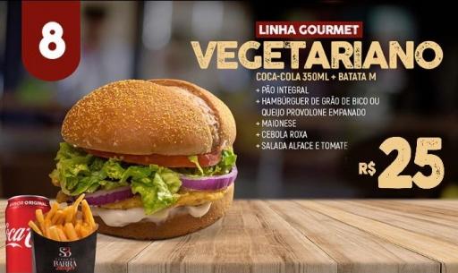 Combo Vegetariano Grão de Bico +Refri 350ML +Batata M