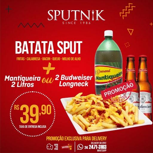 Batata Frita Completa + 2 Longneck de Budweiser