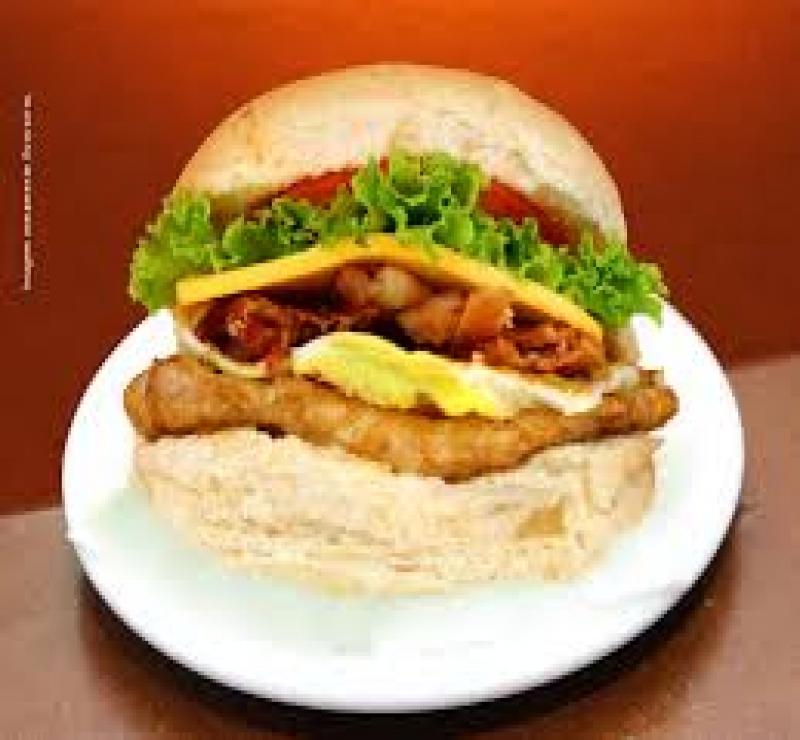 X Frango Salada Bacon