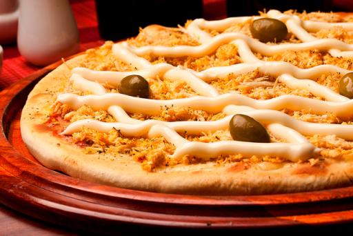 Pizza Média Frango C/catupiry