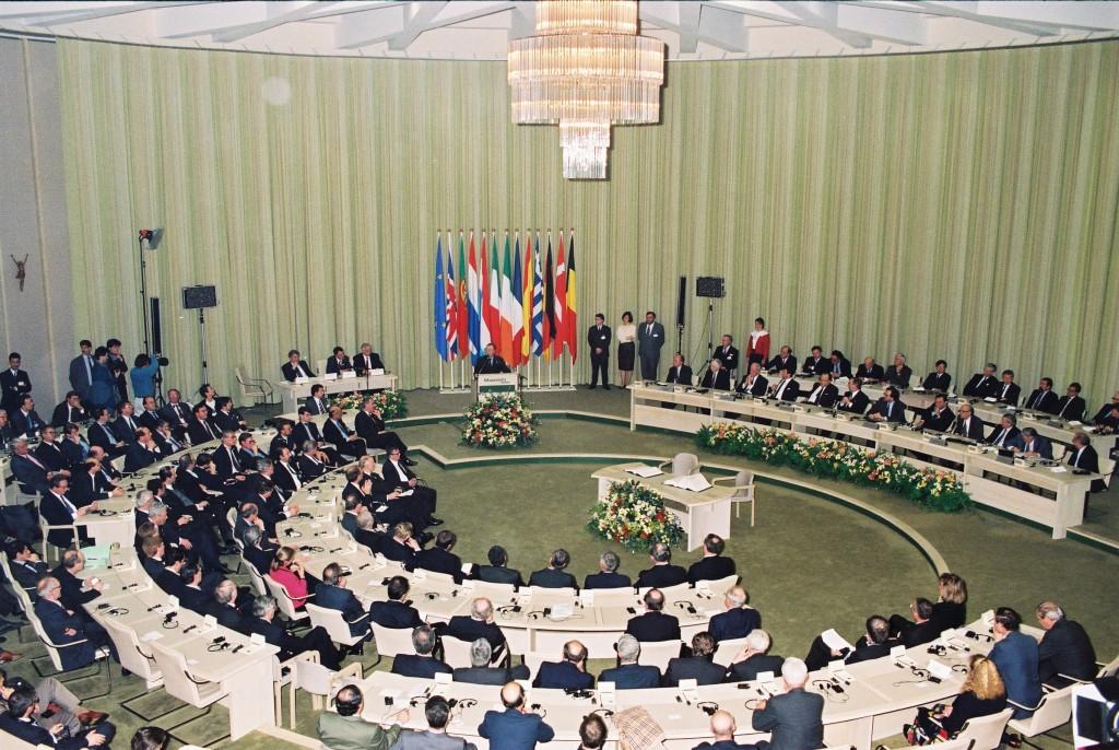 Encontro de líderes dos países inseridos na União Européia