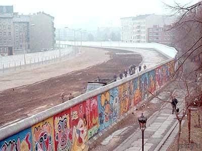 O muro de Berlim.
