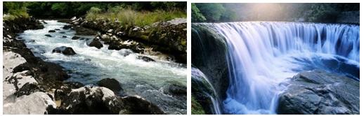 Exemplos de províncias lónticas (rios, cascatas, córregos).