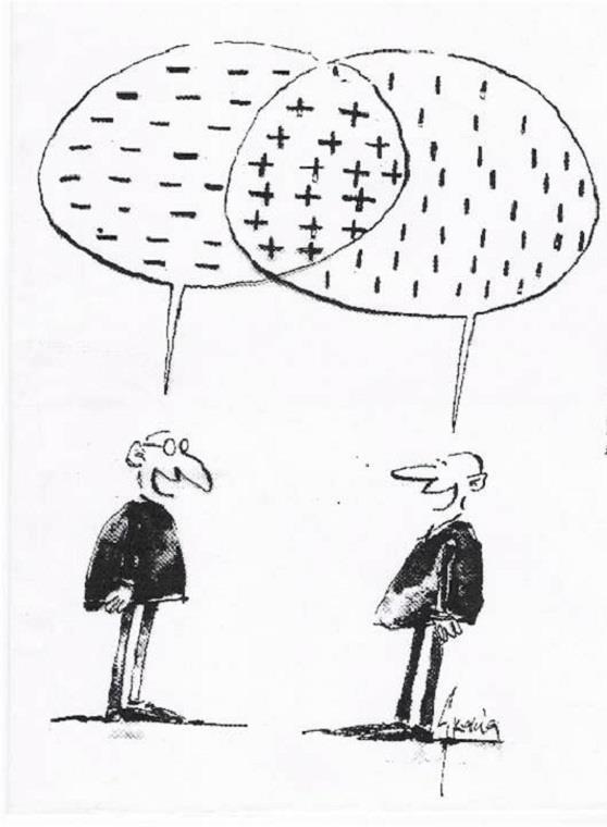A síntese conciliadora pode apresentar opiniões que, a princípio, são contraditórias, chegando a uma conclusão que concilia as duas ideias!