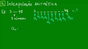Exemplo de Interpolação Aritmética.